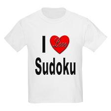 I Love Sudoku Su Doku (Front) Kids T-Shirt