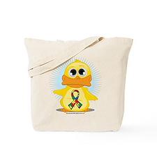 Autism Duck Tote Bag