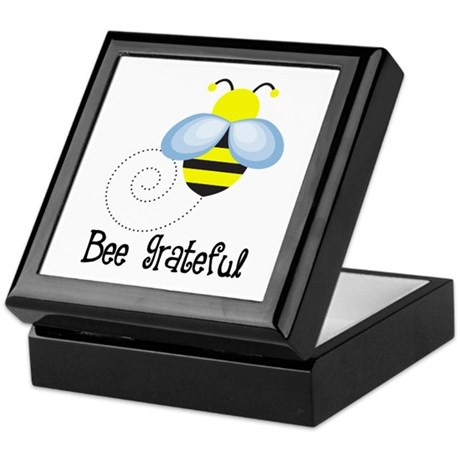 Cute Gratitude Bee Keepsake Box