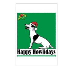 Jack Russell Holiday Postcards (Package of 8)