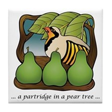 A Partridge In A Pear Tree Tile Coaster