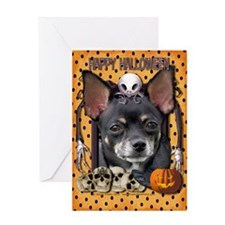 Halloween Nightmare Chihuahua Greeting Card