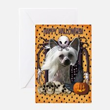 Halloween Nightmare - Crestie Greeting Card