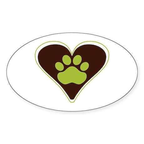 Puppy Love Sticker (Oval)