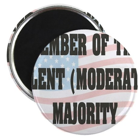 MODERATE MAJORITY Magnet