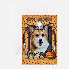 Halloween Nightmare - Corgi Greeting Card