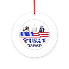 Tea Party Christmas Ornament (Round)