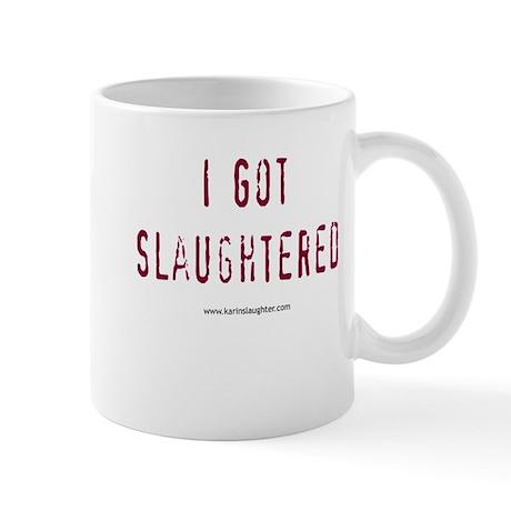 2-slaughteredstackedshirt Mugs