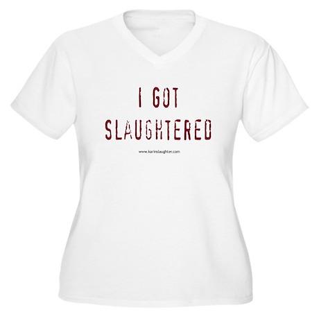 2-slaughteredstackedshirt Plus Size T-Shirt