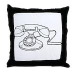 Rotary Dial Phone Throw Pillow