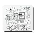 Telephone History Mousepad