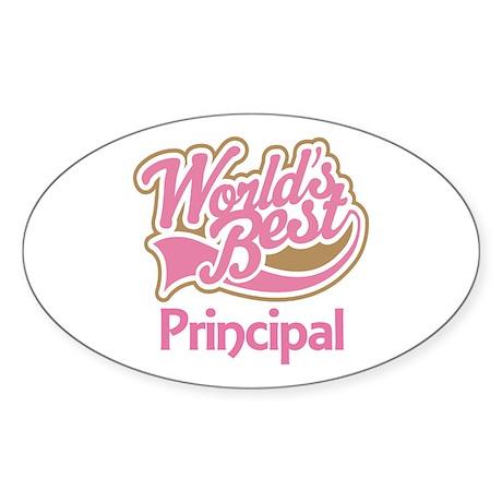 Worlds Best Principal Sticker (Oval)