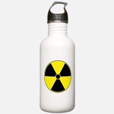 Yellow Radiation Symbol Sports Water Bottle