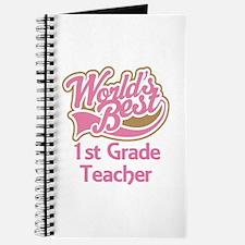 Worlds Best 1st Grade Teacher Journal