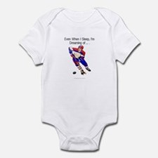 TOP I'm Dreaming of Hockey Infant Bodysuit