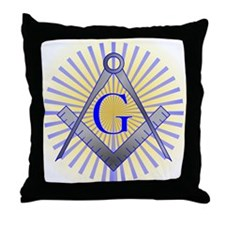 Unique Square and compasses Throw Pillow