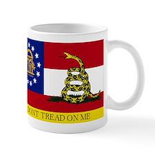 Dont Tread on Me Georgia Flag Small Mug