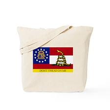 Dont Tread on Me Georgia Flag Tote Bag