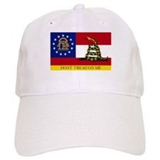 Dont Tread on Me Georgia Flag Baseball Cap