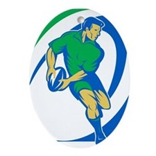 Rugby Ornament (Oval)
