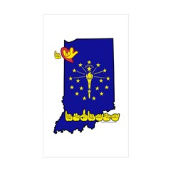 ILY Indiana Decal