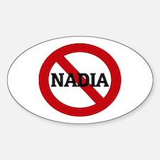 Anti-Nadia Oval Decal