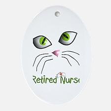 Retired Nurse Ornament (Oval)