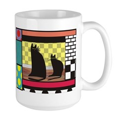 Cat Art Large Mug