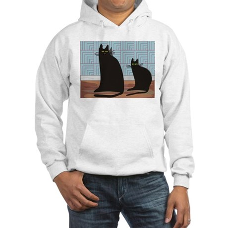 Cat Art Hooded Sweatshirt