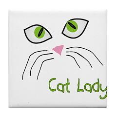 Cat Art Tile Coaster