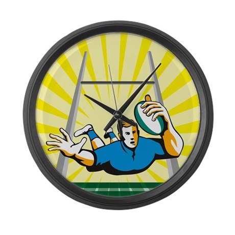 Rugby Large Wall Clock