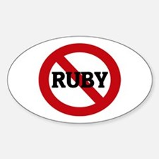 Anti-Ruby Oval Decal