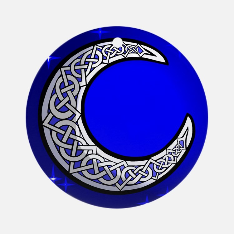 The Celtic Moon Ornament (Round)