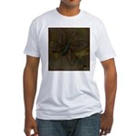 Purple Butterfly Fitted T-Shirt