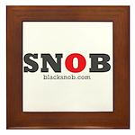 SNOB Red Logo Framed Tile