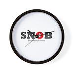 SNOB Red Logo Wall Clock