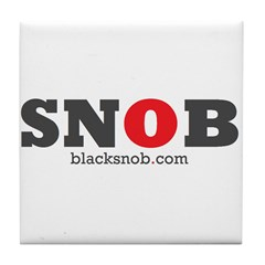 SNOB Red Logo Tile Coaster