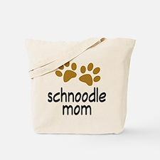 Cute Schnoodle Mom Tote Bag