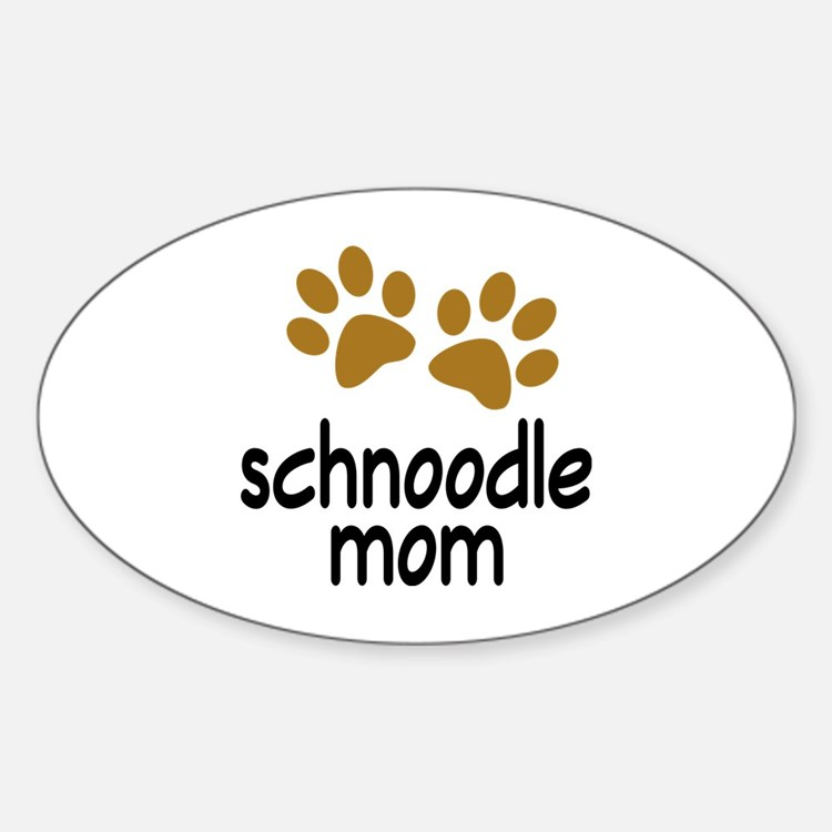 Cute Schnoodle Mom Decal