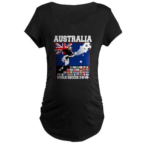 Australia World Soccer Goal Maternity Dark T-Shirt
