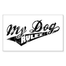My Dog Rulez Decal