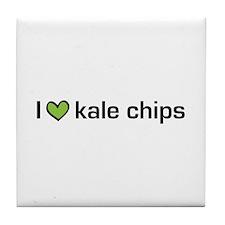 I heart kale chips Tile Coaster