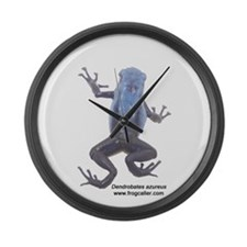 Blue Poison Frog Large Wall Clock