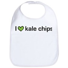 I heart kale chips Bib