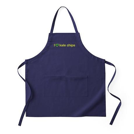 I heart kale chips Apron (dark)