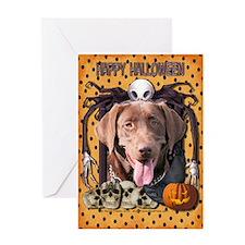 Halloween Nightmare Labrador Greeting Card