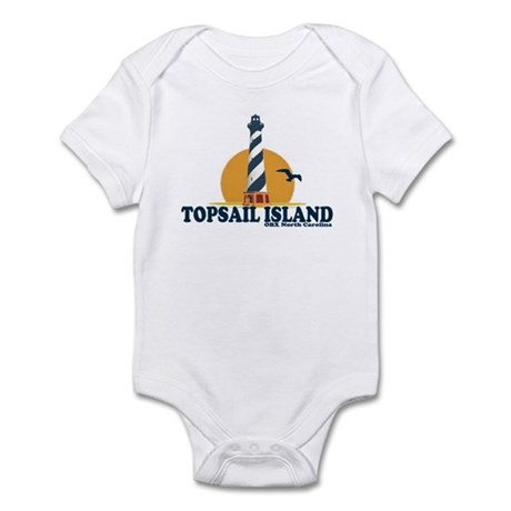 Topsail Island NC - Lighthouse Design Infant Bodys