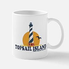 Topsail Island NC - Lighthouse Design Mug
