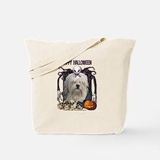 Halloween Nightmare - Lowchen Tote Bag