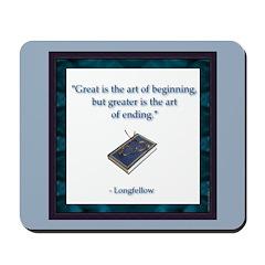 Longfellow Quote Mousepad